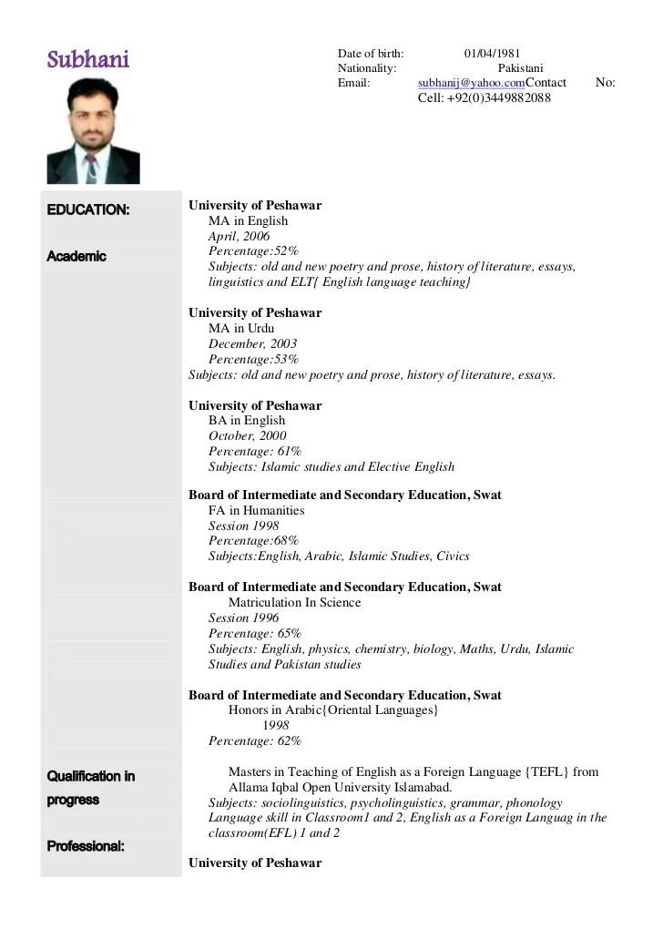 Sample American Resume Format. Updated Cv And Work Sample Dan S