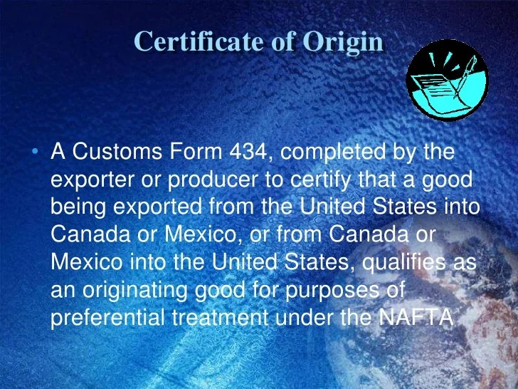 Nafta Certificate Template how to complete a certificate of – Generic Certificate of Origin Template