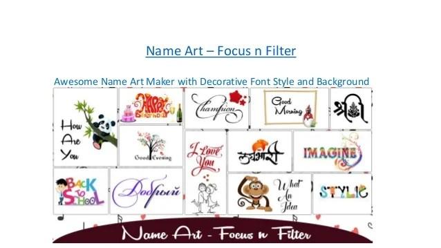 Stylish Name Art Maker Focus N Filter