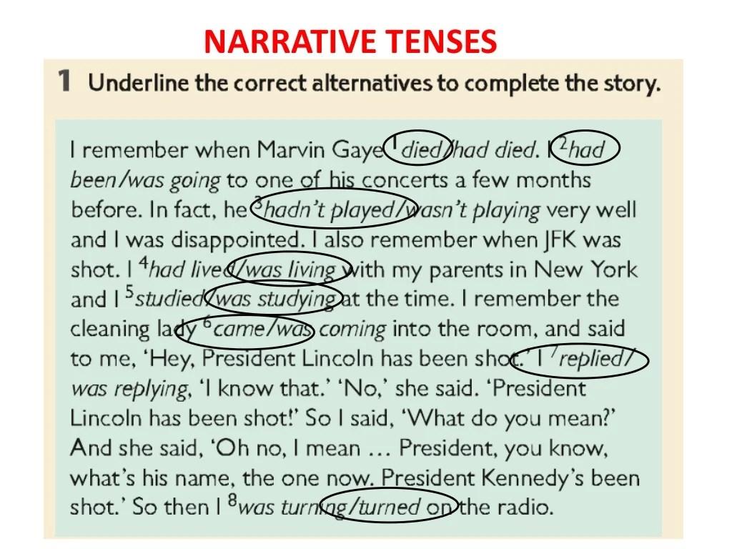 Narrative Tenses
