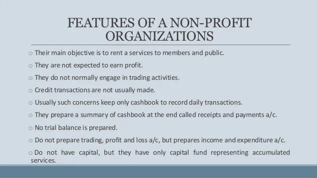 Accounting For Non Profit Organization