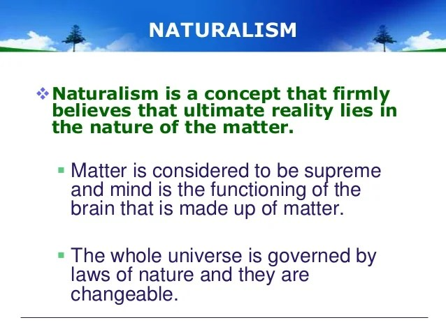 what is naturalism in philosophy of education