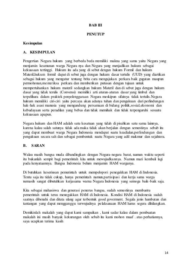 14 Makalah Ham Dan Rule Of Law Pdf