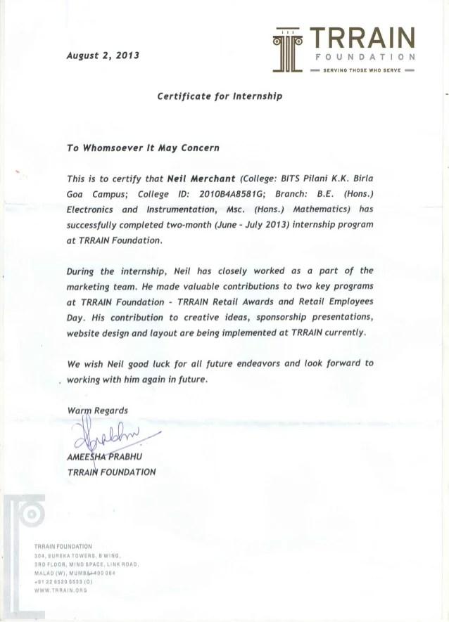 internship certificate letter sample car tuning