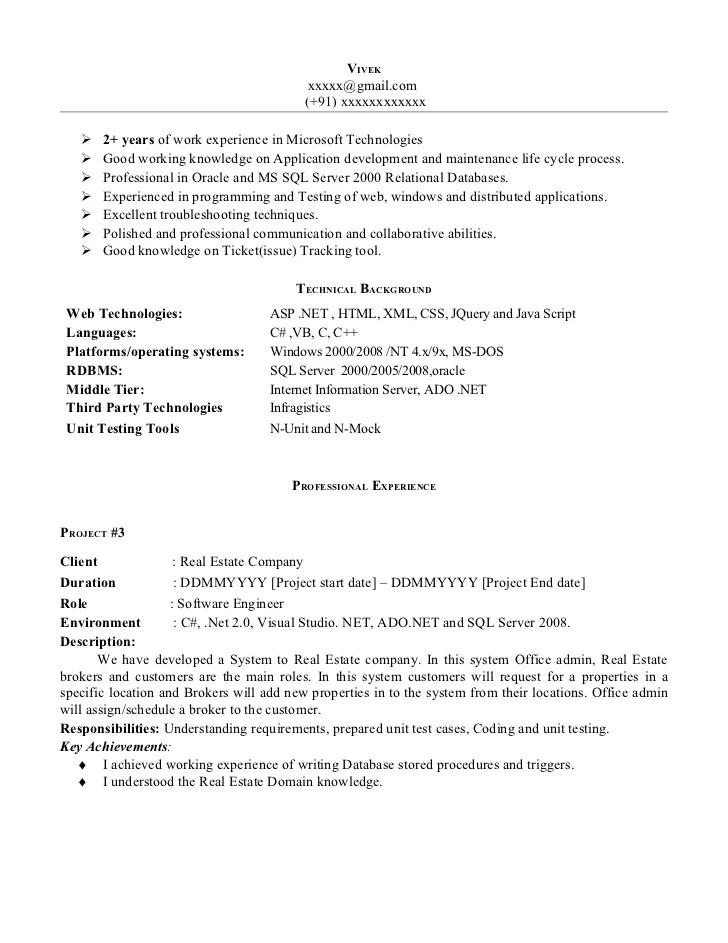 Software Testing Resume Format For Freshers Vosvetenet – Resuming Format
