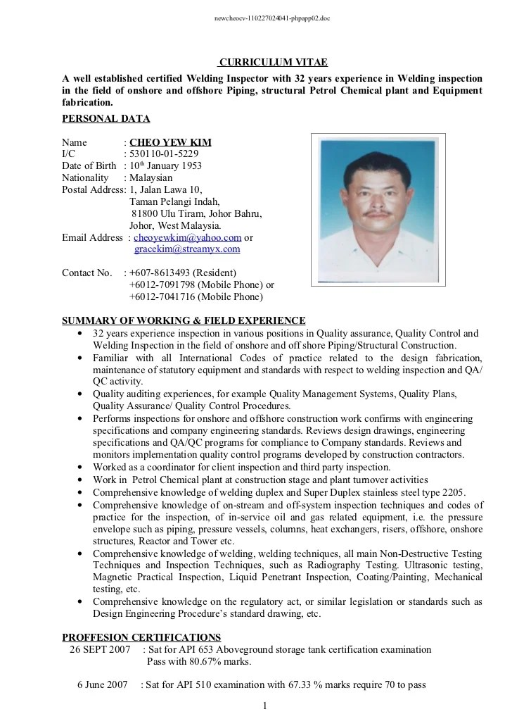 welding inspector resume template contegri com