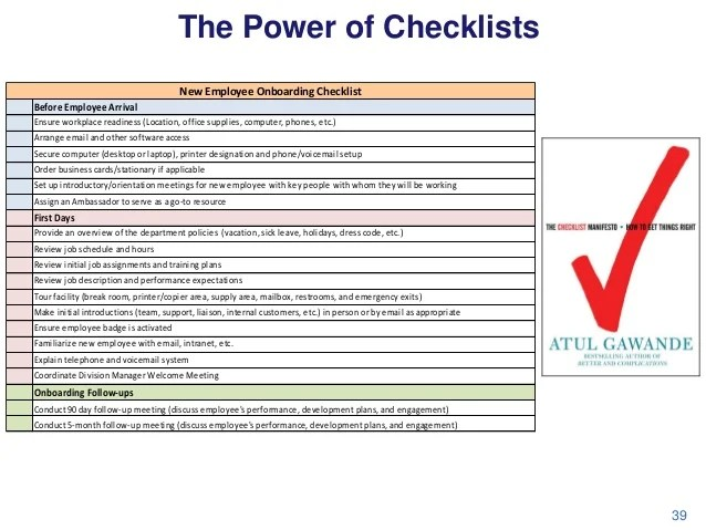 The Power Of Checklists New