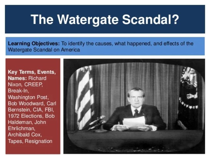 Image result for Nixon and Watergate