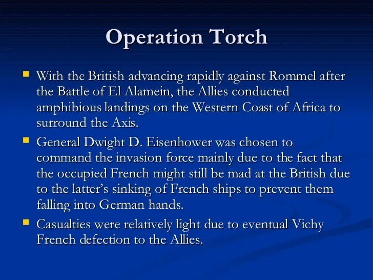 Dwight Eisenhower Operation Torch