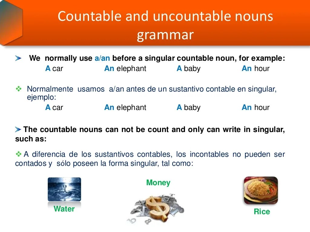 Nouns Grammar Countable And Uncountable Nouns