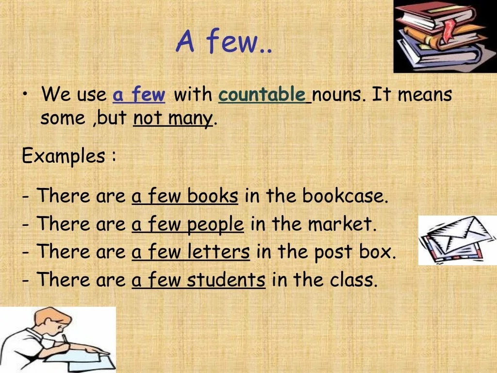 Nouns Quantifiers Many Lots A Few 3 To Use
