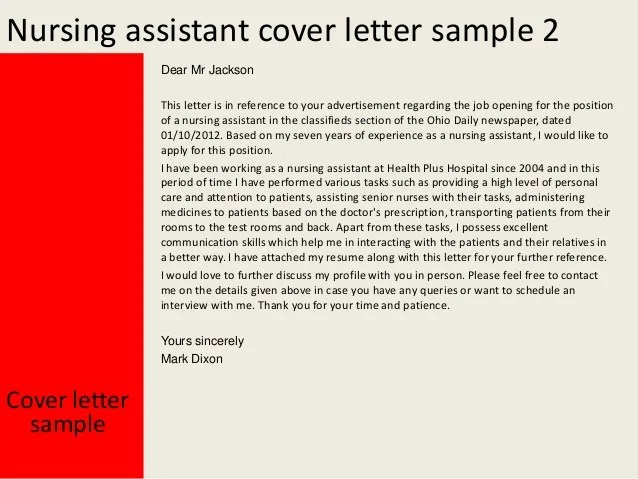 cna cover letter templates
