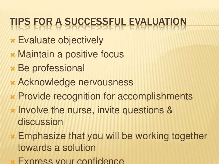 Nursing Student Evaluation Comments Examples