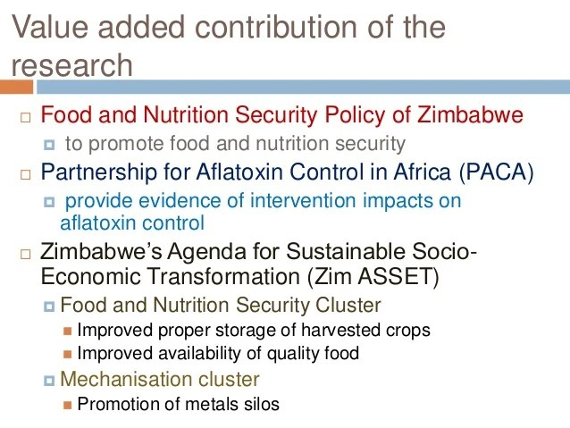 Food And Nutrition Security Policy Zimbabwe