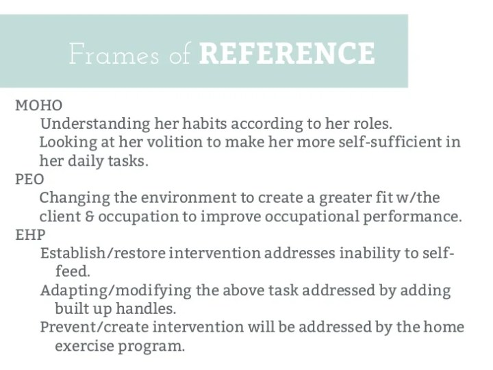 frame of reference in occupational therapy | pixels1st.com