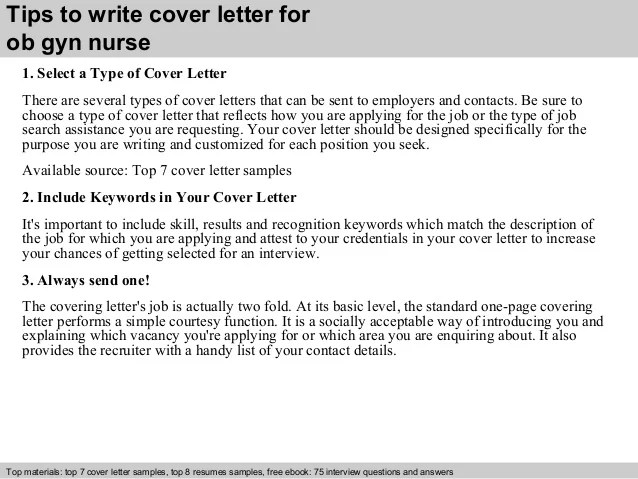 gyn cover letter