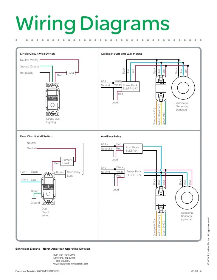 Occupancy Sensor Selection Guide 1200 Sm0701