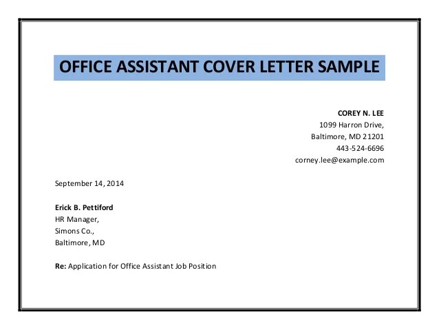 Lab Assistant Cover Letter Example