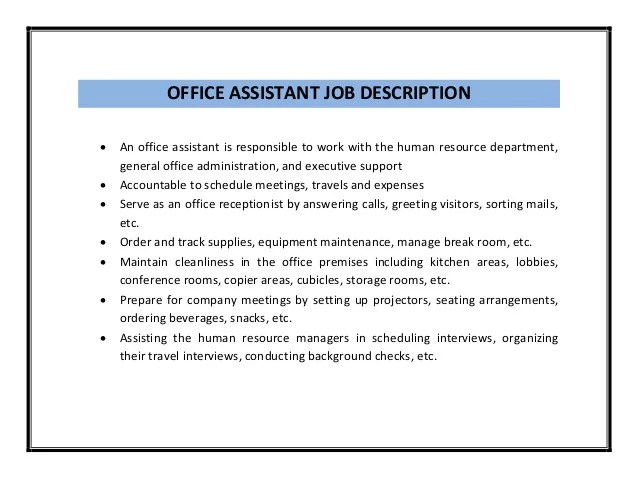 Example Resume Administrative Assistant Objective Work Front Office Manager Job Description Medical Executive