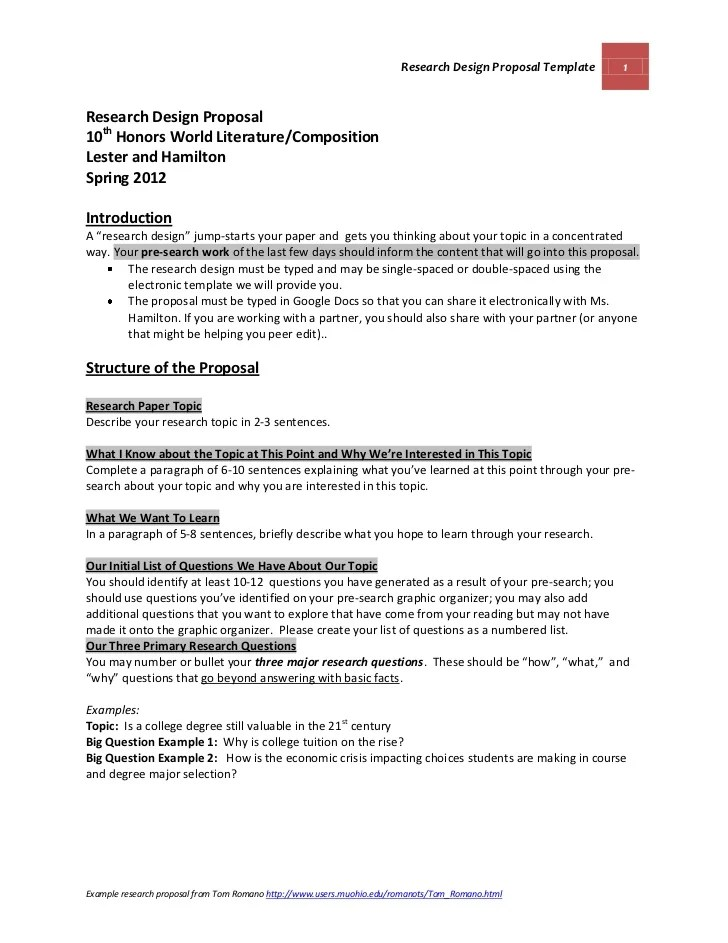 Essay Proposal Template Example Of Essay Proposal How To Write A