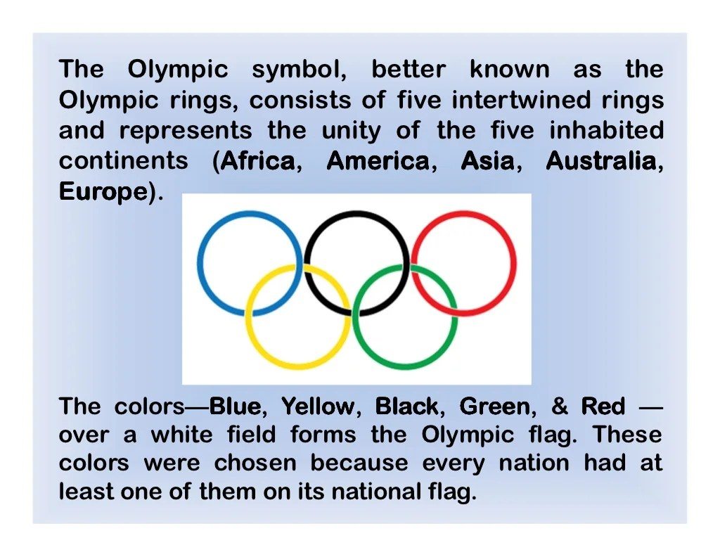 The Olympic Symbol Better Known