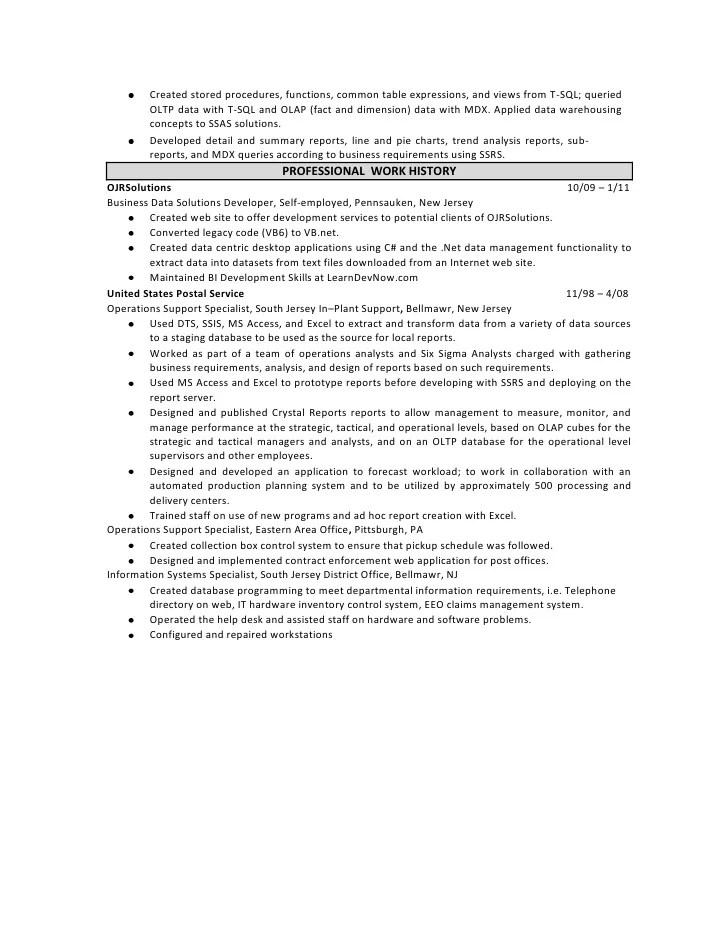 bi developer resume