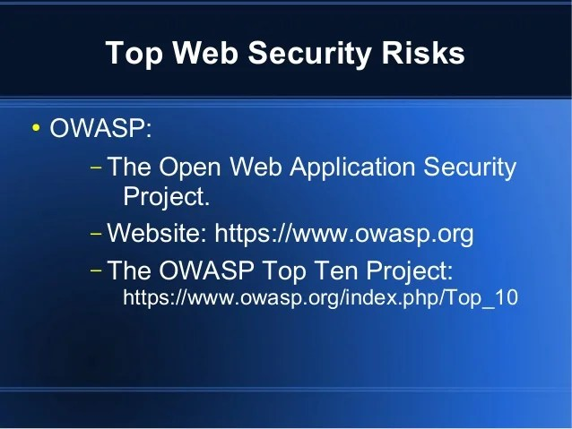 Security Web App Testing