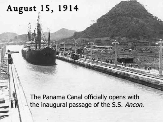 Image result for photos of the opening of the panama canal