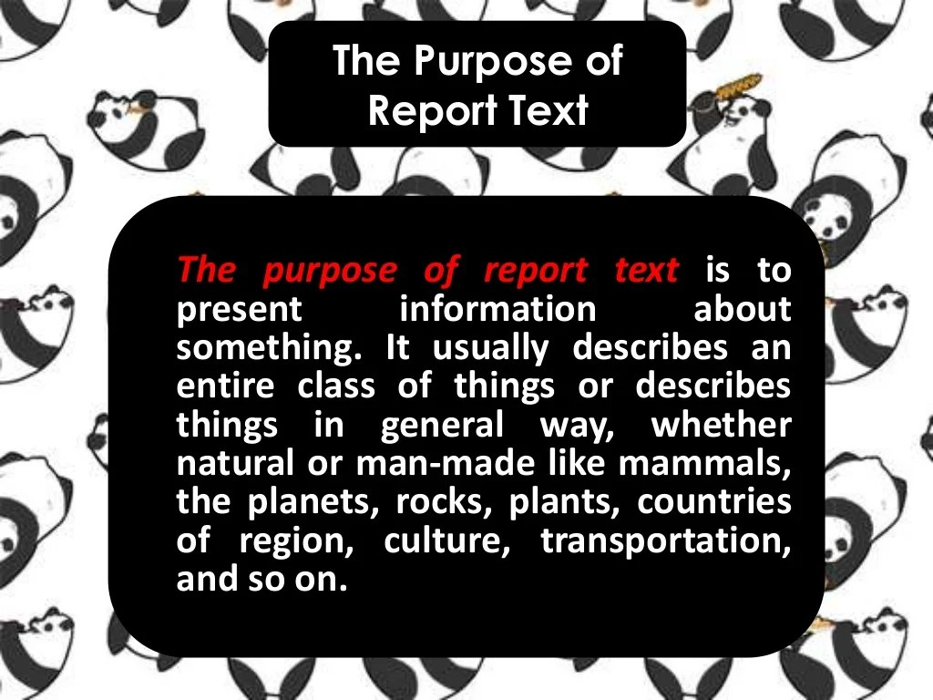 Report Text About Animal Panda