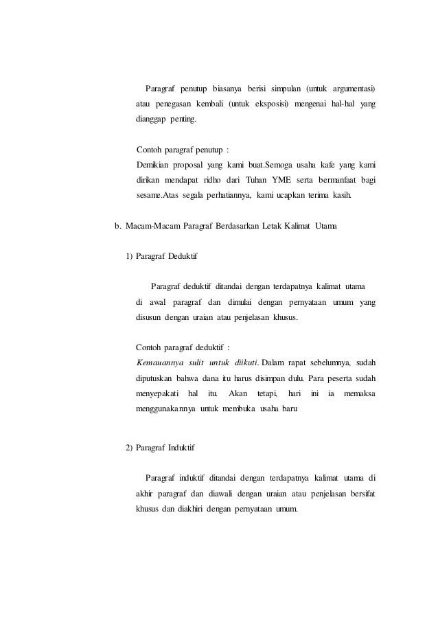 Contoh Paragraf Deduktif Eksposisi Contoh Surat