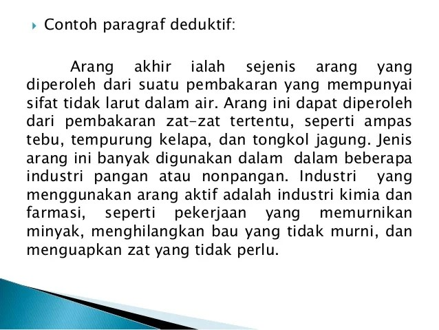 14 Contoh Paragraf Deduktif Induktif Dalam Bahasa Jawa