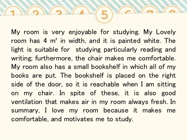 Descriptive essay about my favorite room