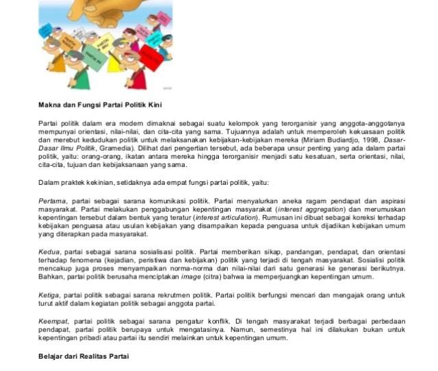 Partai Politik Dalam Islam Makna Dan Fungsi Partai Politik Kini Partai Politik Dalam Era Modern Dimaknai