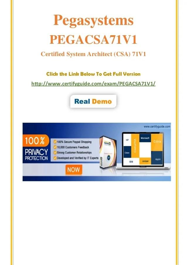 Pegacsa71 V1 Dumps Exam Practice Questions