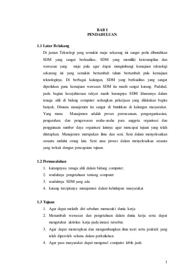 Contoh Pendahuluan Paper