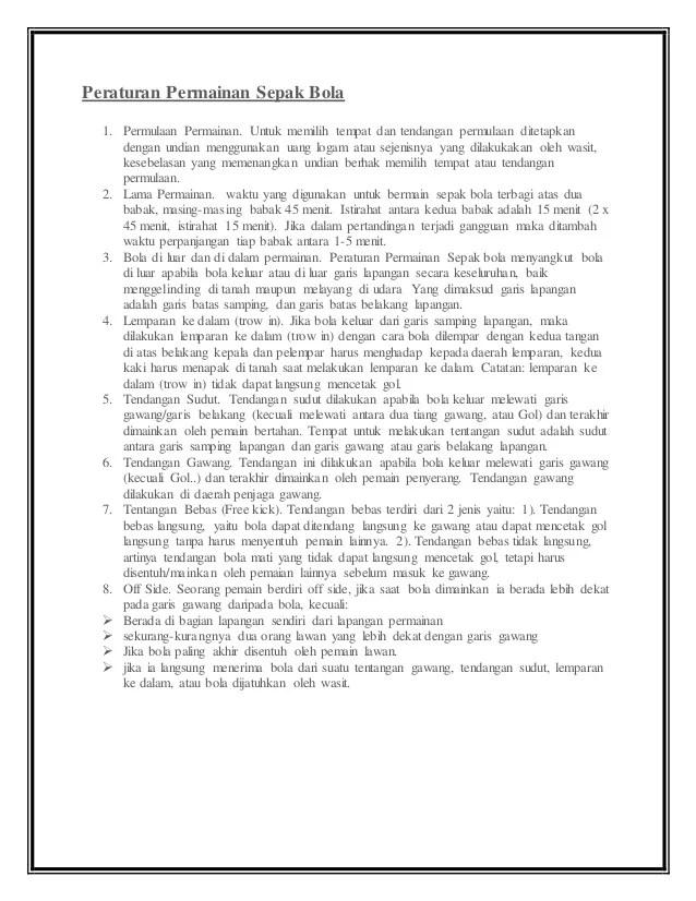 Jelaskan Tentang Peraturan Lapangan Permainan Sepak Bola