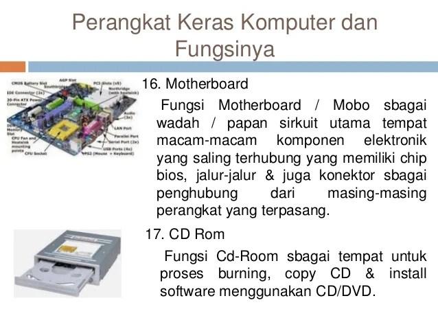 Macam Macam Perangkat Keras Komputer Dan Lalod