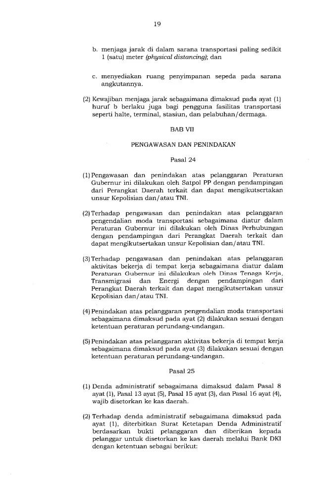 Gubernur Anies Keluarkan Pergub soal Pelaksanaan PSBB Transisi, Ini Isinya 19