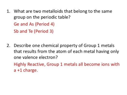 Periodic table charges quiz periodic diagrams science periodic table quiz 1 and 2 urtaz Gallery