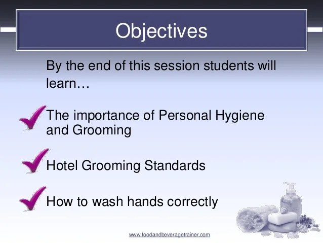 Checklist Personal And Hygiene Grooming