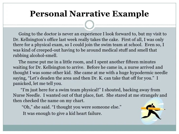 narrative essay format example