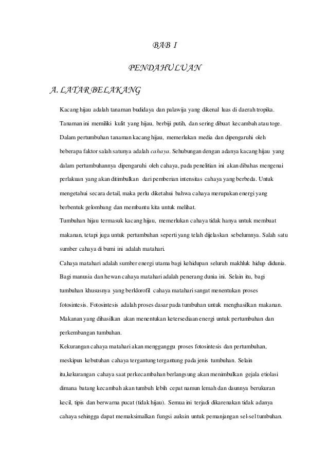 20 Makalah Biologi Tentang Perkecambahan Kacang Hijau