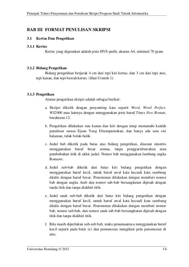 Format Skripsi Bahasa Arab
