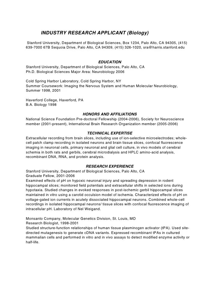 Mechanical phd resume