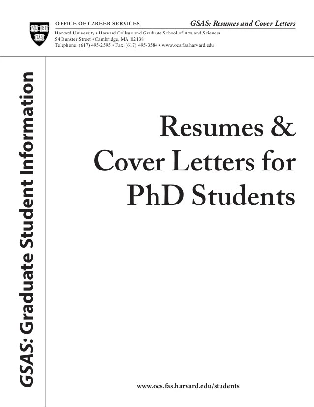 Phd Resume Coverletters