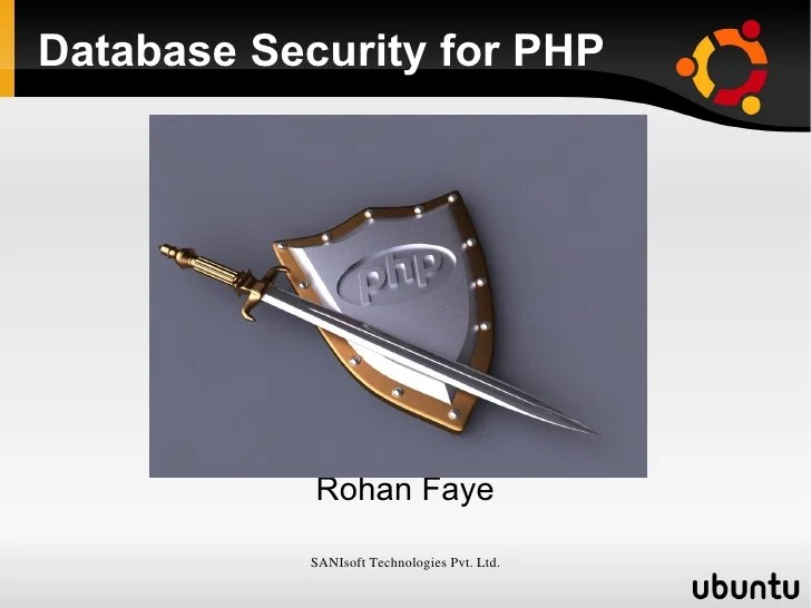 Php Database Security