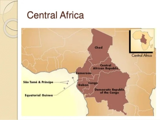 Physical map of africa Eastern Africa  9