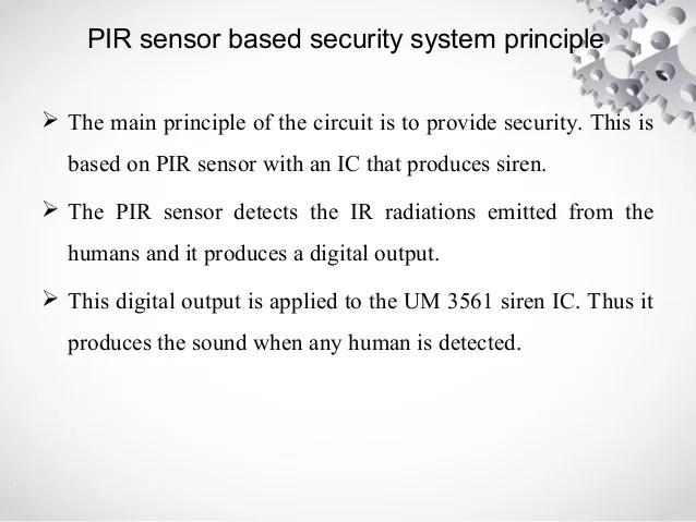 Security Alarm System Based Pir Sensor