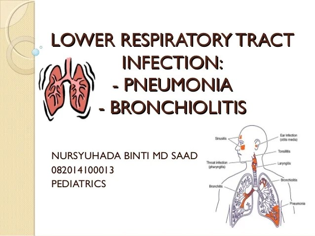 Lower respiratory tract infection Pneumonia