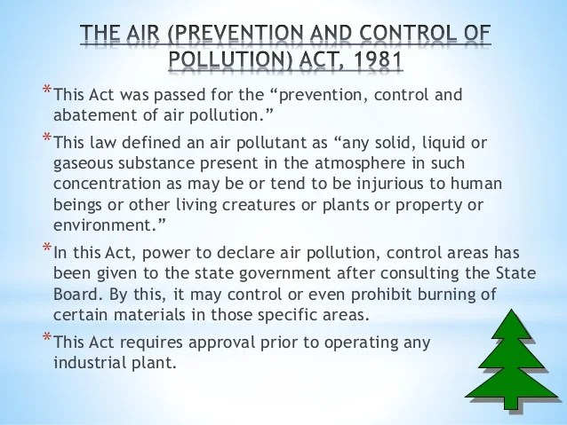 India Pollution Air Act
